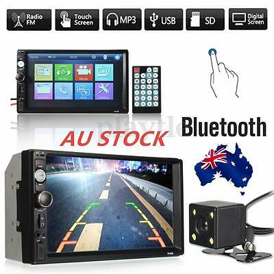 """7"""" Car Stereo MP5 Player Double 2Din In Dash Touch Bluetooth Radio Aux+Camera AU"""
