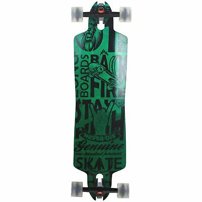 Downhill Longboard Green Drop Through 91 cm Freeride Skateboard W-Concave