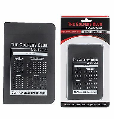 New Golfers Club deluxe golf scorecard holder with pencil