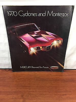 Vintage Ford Muscle Car 1970 Mercury Cyclone Montego Advertising Sales Brochure