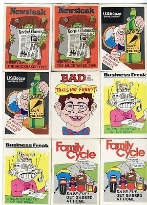 1974 Fleer Crazy Magazine Covers Sticker Card LOT 28 Stickers Cards Duplicates