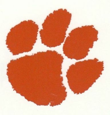 REFLECTIVE Clemson Tigers decal sticker up to 12 inches orange Nat Champions