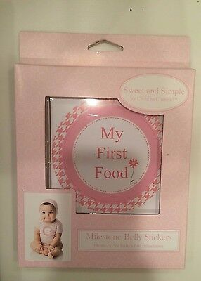 Baby's Sweet and Simple Milestone BELLY STICKERS by Child to Cherish NEW - GIRL