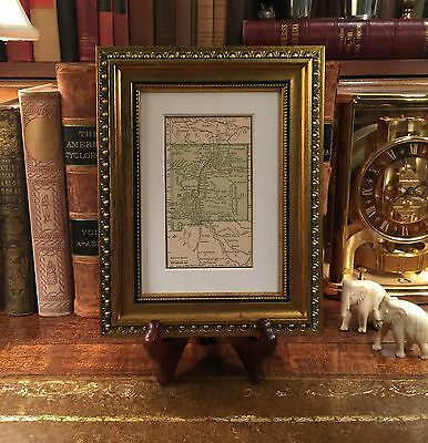 Framed Original 1889 Antique Map NEW MEXICO Albuquerque Rio Rancho Roswell Taos