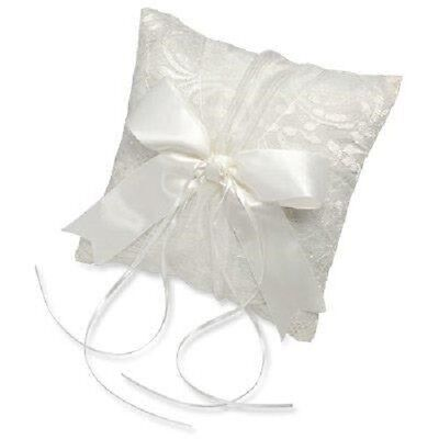 Wedding Ring Cushion Vintage Satin And Lace