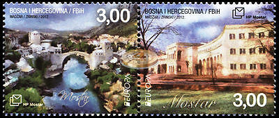 Bosnia and Herzegovina. 2012. EUROPA - Visit Mostar (MNH OG) block of 2 stamps