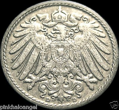Germany - German Empire - German 1898D 5 Pfennig Coin - VERY NICE COIN