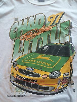 JOHN DEERE RACING TEE SHIRT, XL, Chad Little # 97 Edition.