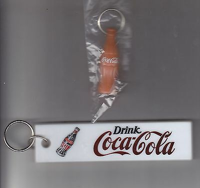 Coca-Cola  Key Rings Two Different Styles  One Nice  Red Drink Coca-Cola