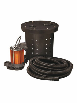 Liberty Pumps CSP-237 - 1/3 HP Cast Iron Crawl Space Sump Pump Kit
