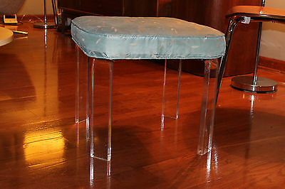 Mid Century fabric bench stool century chair Hollywood  regency baughman