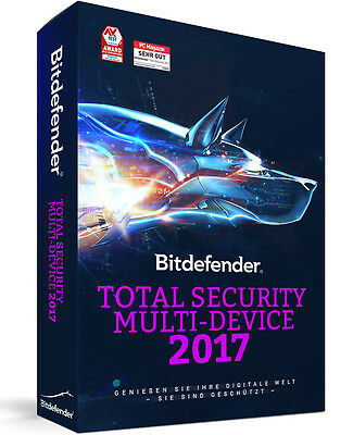 Bitdefender Total Security Multi Device 2017 - 5 Geräte | 1 Jahr (Download)