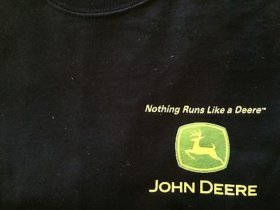 JOHN DEERE TEE SHIRT, XL, Black, Consumer Products Edition