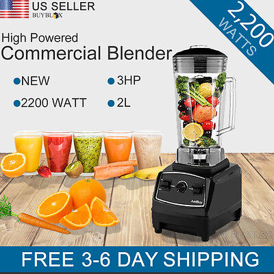 2200W 3HP Commercial Table Blender Juicer Mixer Professional High Power Vitamix