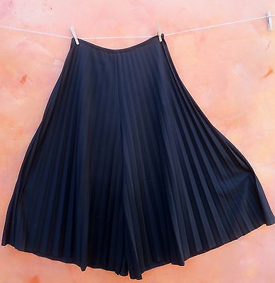 vtg BELL BOTTOM accordion PLEATED high waist palazzo wide leg flare pants 70s