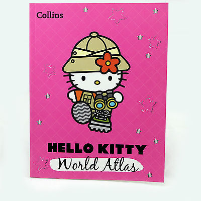 HELLO KITTY World Atlas - Children's / Kids Educational Geography Book Map Facts