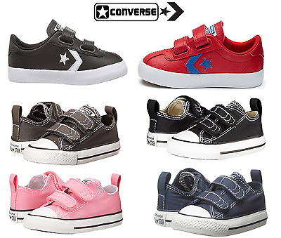 Converse Baby All Star Chuck Taylor Velcro Strap Shoe Infant /Toddler Shoe