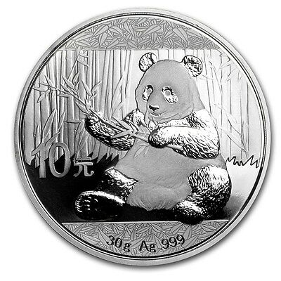****SPECIAL**** CHINESE SILVER PANDA - 2017 30 Gram Pure Silver Coin in Capsule