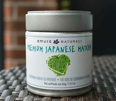 Japanese Ceremonial Matcha Green Tea Powder!! 40 grams - Free Bamboo Spoon!
