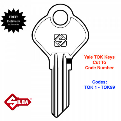 YALE TOK Series Keyswitch Keys Cut To Code Number.Key Switch-FREE POST IN AUST.