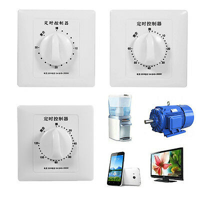 220V 50Hz 86 Panel 30/60/120Min Mechanical Countdown Timer Switch Controller DY
