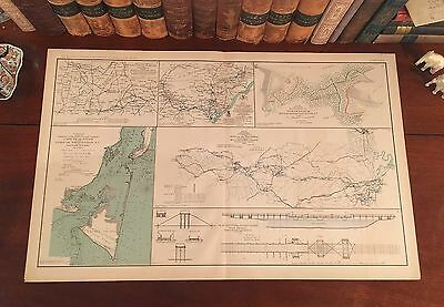 Original Antique Civil War Map REBEL BLOCKADE RUNNERS Wilmington North Carolina