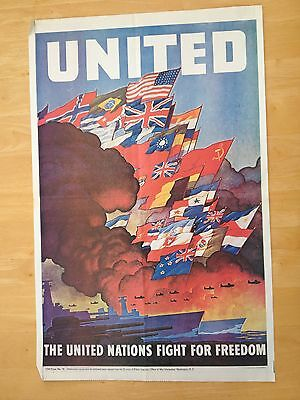 WW11 Poster - THE UNITED NATIONS FIGHT FOR FREEDOM
