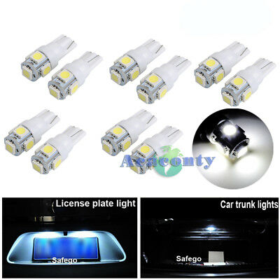 10x T10 194 168 W5W 5SMD 5050 LED 12V Auto Leselampe Innenraumbeleuchtung Weiß