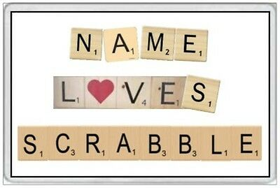 Scrabble - Jumbo Fridge Magnet - Personalize With Your Own Name -