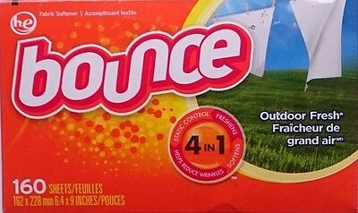 BOUNCE  'Outdoor Fresh' Sheets Trocknertücher 160 Stück Original aus USA