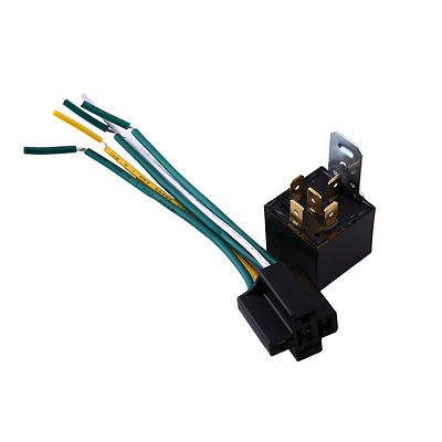 Automotive Car 30/40A Style 5 Pin 5 wire Relay Changeover Harness Socket