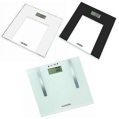 Hanson H1000 Electronic Bathroom Scales or HFX902 Body Fat Analyser Digital NEW