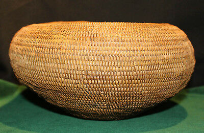 "Antique Native American Indian Mission Basket 9 1/2"" Diameter"