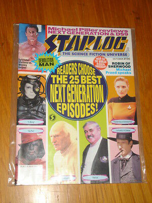Starlog #195 Sci-Fi Magazine October 1993 Star Trek Stallone Vs Wesley Snipes