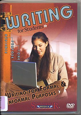 Writing for Formal and Informal Purposes Writing for Students Homeschool DVD