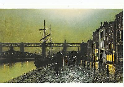 Northumberland Postcard - The Quayside - Newcastle upon Tyne in 1895 - SM14