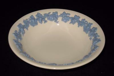 "Wedgwood QUEENSWARE Lavender Blue Cream Grapevine Coupe Cereal Bowl 6 1/4"" Plain"