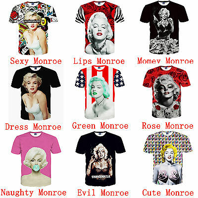 3D Print Funny Women&Men Tee T-shirt Tops Casual Blouse Tops Costume Party NEW
