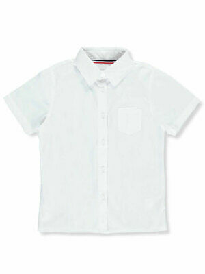 French Toast Big Girls' Cap Sleeve Button-Down Blouse (Sizes 7 - 20)