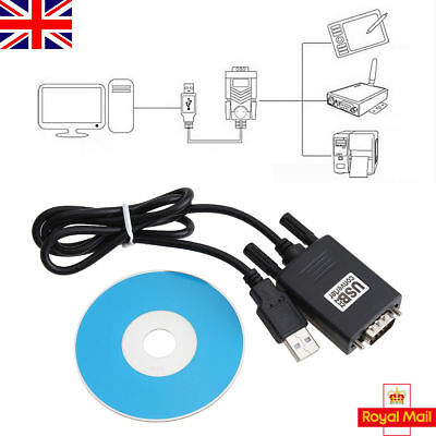 1M USB 2.0 to Serial RS-232 DB9 9Pin Adapter Converter Cable Windows Win 7/8/10