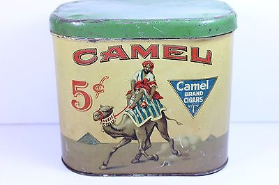 Rare - Early - Camel Tobacco Tin - 5 Cent Cigar  Very Mild - Super Cool Graphics
