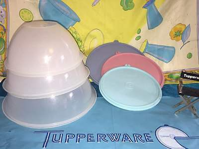Vintage Tupperware Set Of 3 Classic Wonderlier Nesting Bowls Sheer 237 236 235