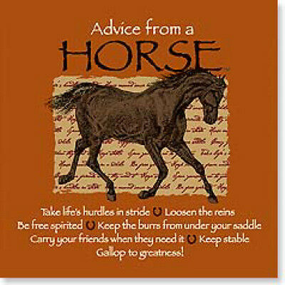 "LEANIN TREE ""Advice From A Horse"" #26338 Magnet ~ Keep Stable ~ Loosen The Reins"