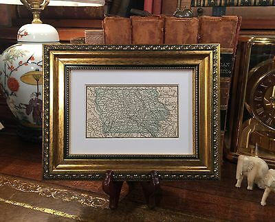 Framed Original 1889 Antique Map IOWA Davenport Dubuque Waterloo Sioux City Ames