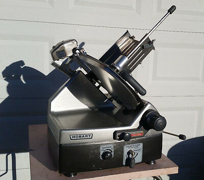 """HOBART 2912 12"""" MANUAL/AUTOMATIC MEAT CHEESE DELI SLICER w/sharpener *VIDEO*"""