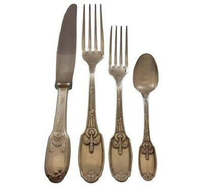 Delafosse by Christofle France Silverplate Flatware Set 12 Service 137 pieces