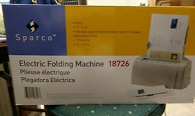 Sparco Automatic Tabletop Paper Folding Machine - SPR18726-BRAND NEW IN BOX