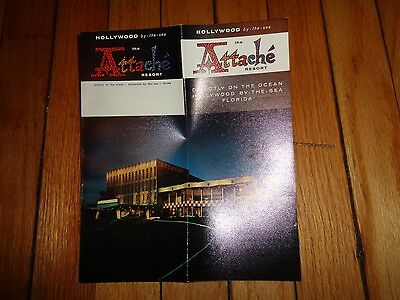 Brochure for Attache Resort Hollywood-by-the-Sea Florida