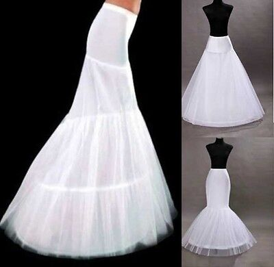 3 Style New White Wedding Bridal Petticoat Crinoline Underskirt A-LINE&Mermaid