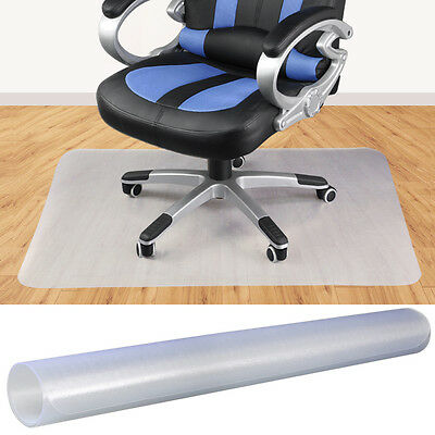 Hard Floor Office Computer Work Chair Mat Protector Rectangle 1200 x 900mm PVC